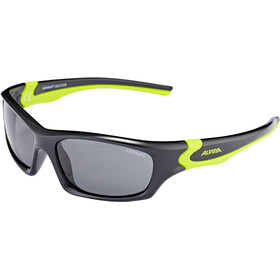 Alpina Flexxy Teen Bril Jongeren, black-neon yellow